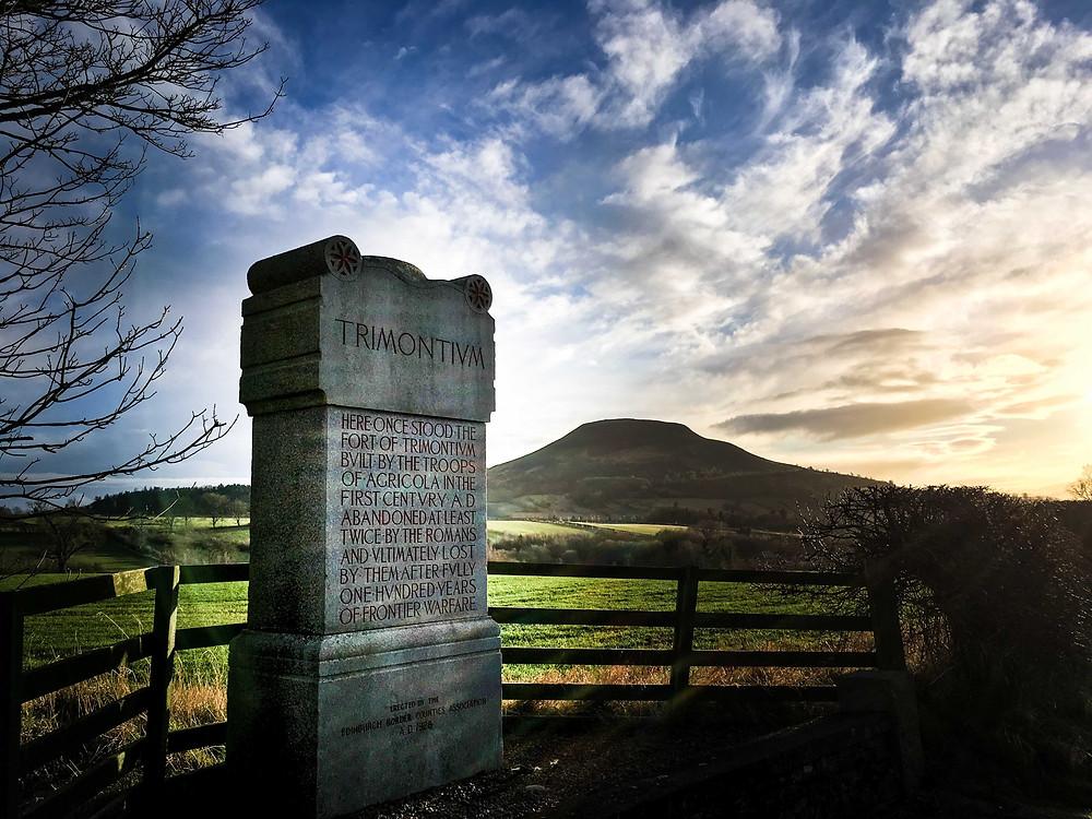 Trimontium Roman Fort and Eildon Hill North, near Melrose, Scottish Borders