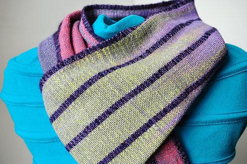 Wool , silk, baby alpaca scarf