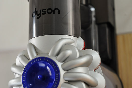Dyson V6 handheld vacuum cleaner in the utility room of The Five Turrets