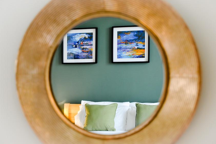 Tweed bedroom, The Five Turrets
