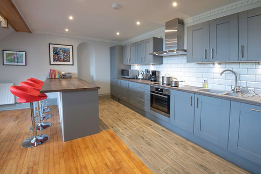 A dream kitchen for the would be Great British Bake Off contestant or budding Master Chef at The Five Turrets, the historic holiday home at the heart of the Scottish Borders
