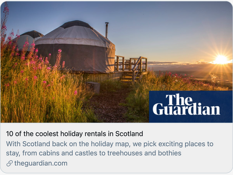 The Guardian picks The Five Turrets as one of the 10 coolest holiday rentals in Scotland