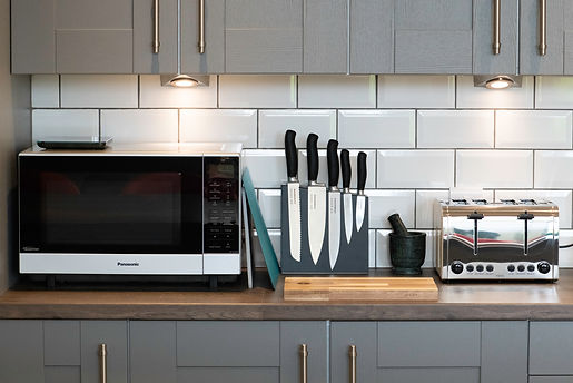 High quality appliances and cookware make The Five Turrets kitchen a chef's dream.