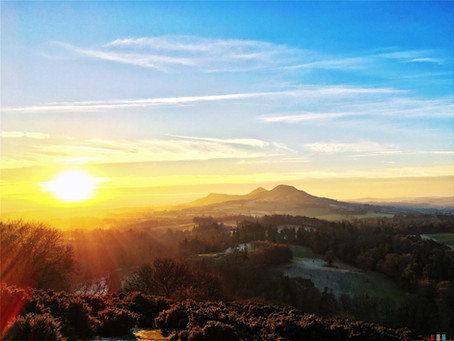 The Eildon Hills: in the land of the elves.