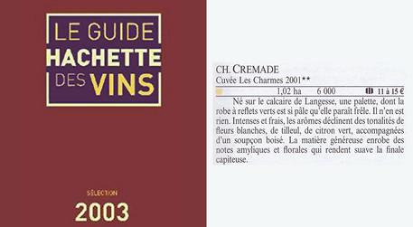 Guide Hachette 2003