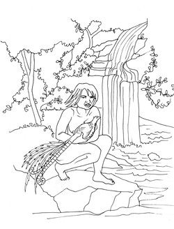 NunGeena Coloring Page