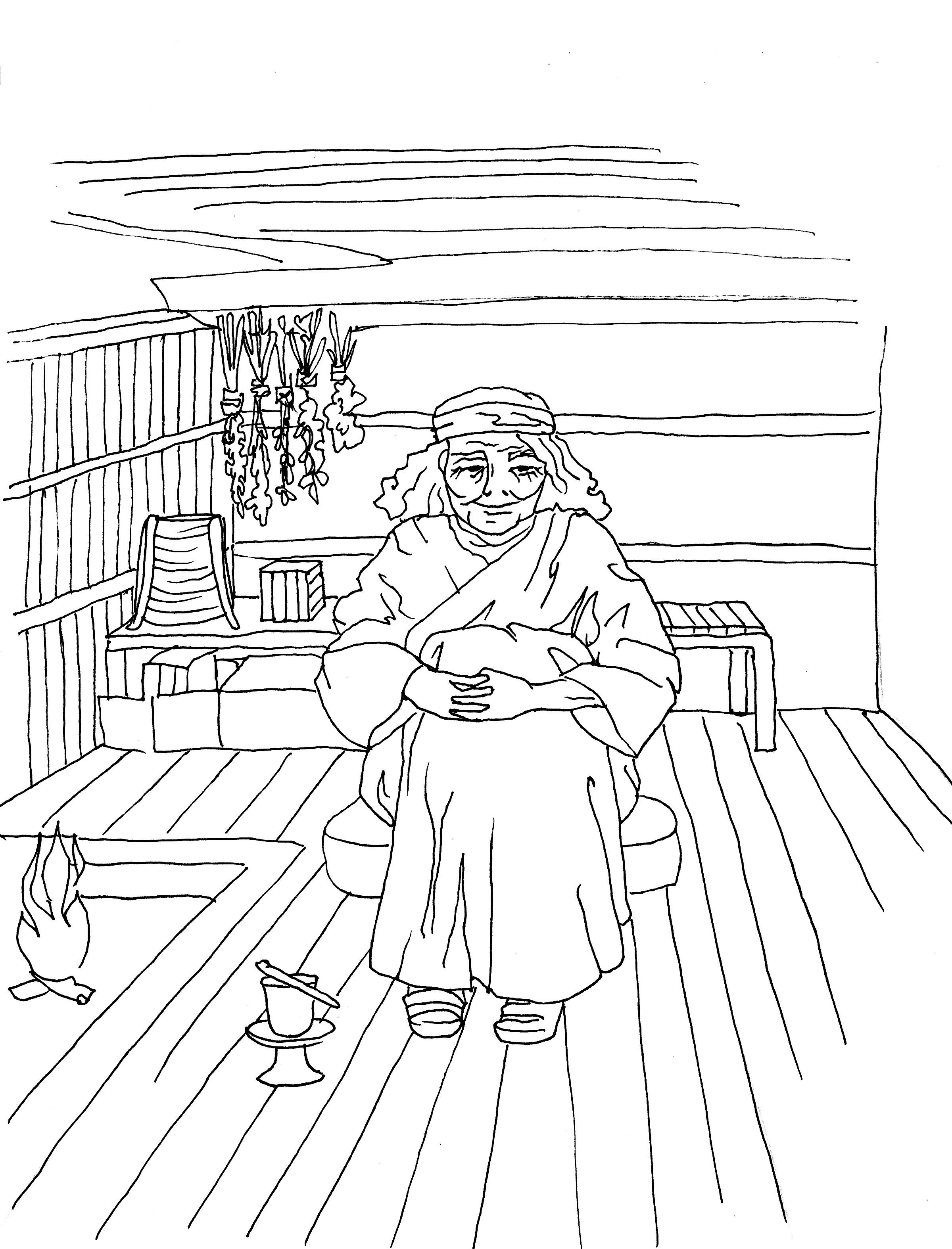 Kamay Fuchi Coloring Page