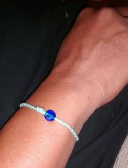 blue bead braclet 1