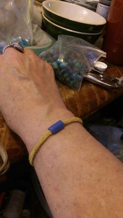 Blue Bead Bracelet 2