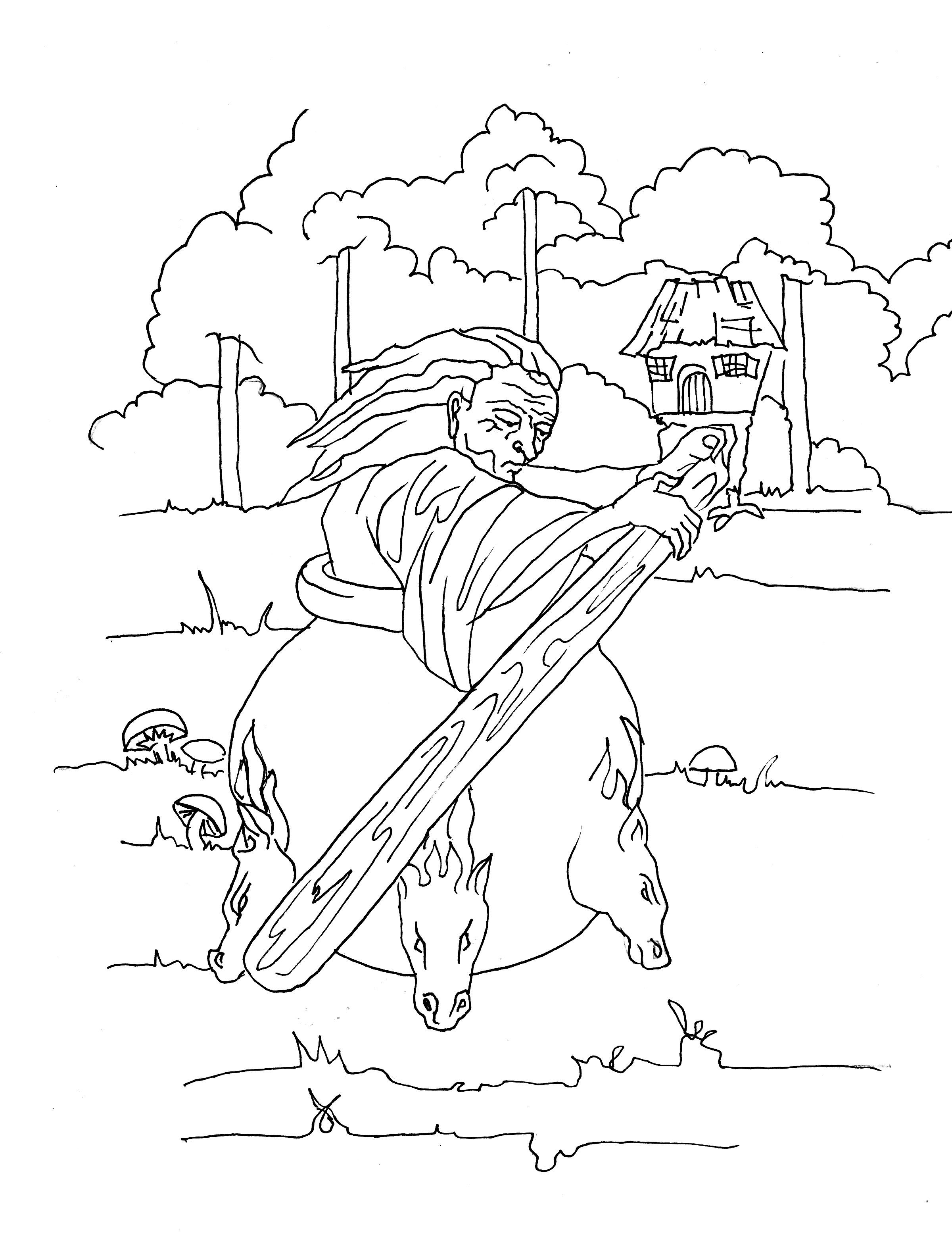 Baba Yaga Coloring Page