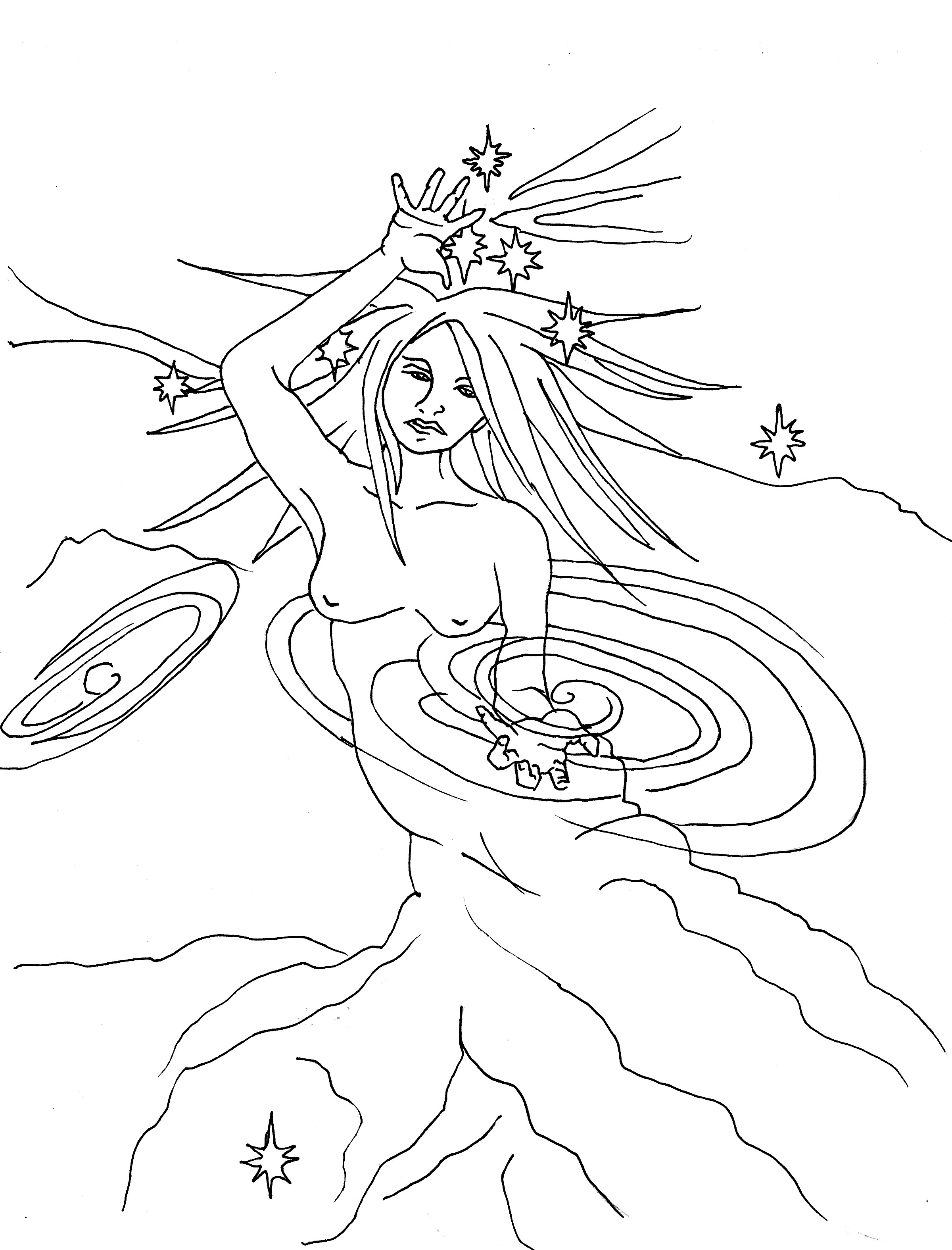 Mother Night Coloring Page