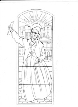 Sojourner Truth Stainglass