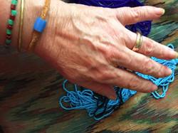 Blue Bead Braclet