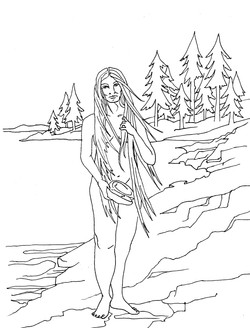 Copper Woman Coloring Page