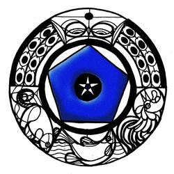 Blue bead temp logo