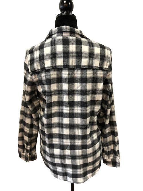 Ladies Classic Fit Black & White Flannel