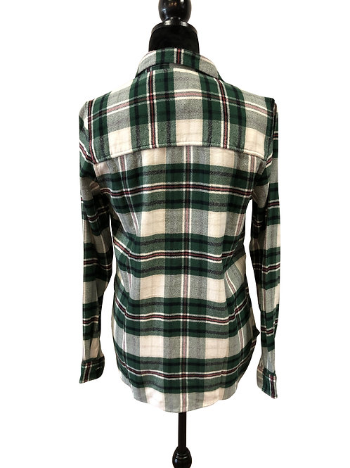 Ladies Classic Fit Green Flannel