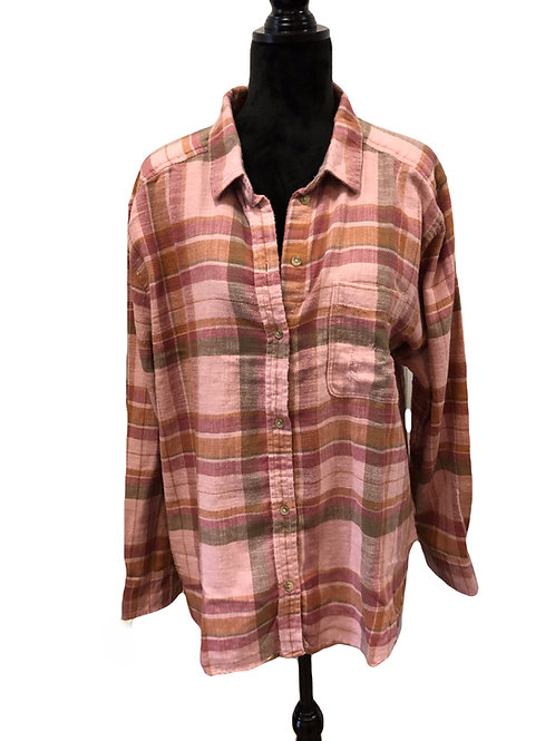 Ladies Dusty Rose Flannel