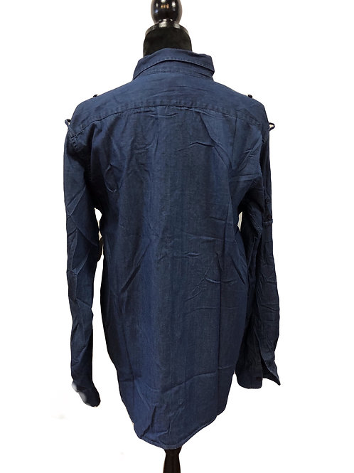 Mens Lightweight Denim Button Up Shirt