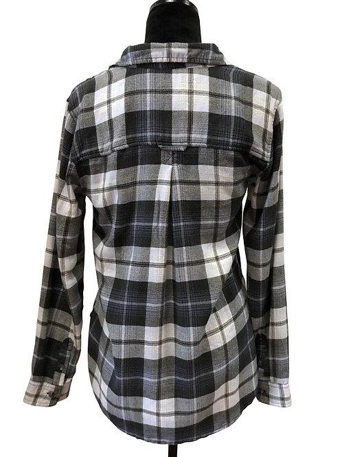 Ladies Boyfriend Fit Dark Grey Flannel