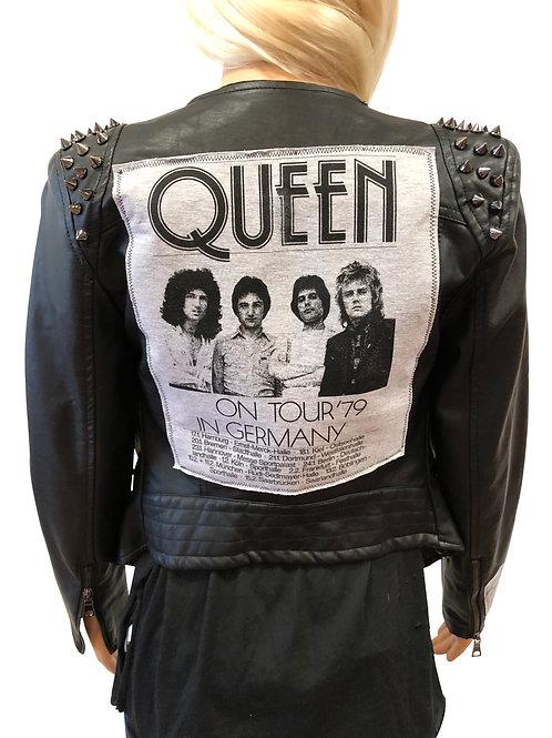 Studded Faux Leather Moto Jacket