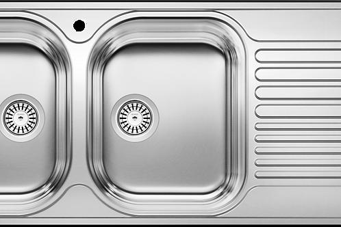 Blanco 401653 Tipo 8S Topmount Double Kitchen Sink Drainboard Montreal