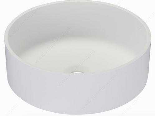 Riveo ALM07349 Topmount Vessel Sink Round White $269.99 Lavabo Evier Rond Blanc