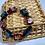 Thumbnail: Scarlet and Black Foil Bead Bracelet