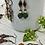 Thumbnail: Open Circle Czech Flower Dangly Earrings