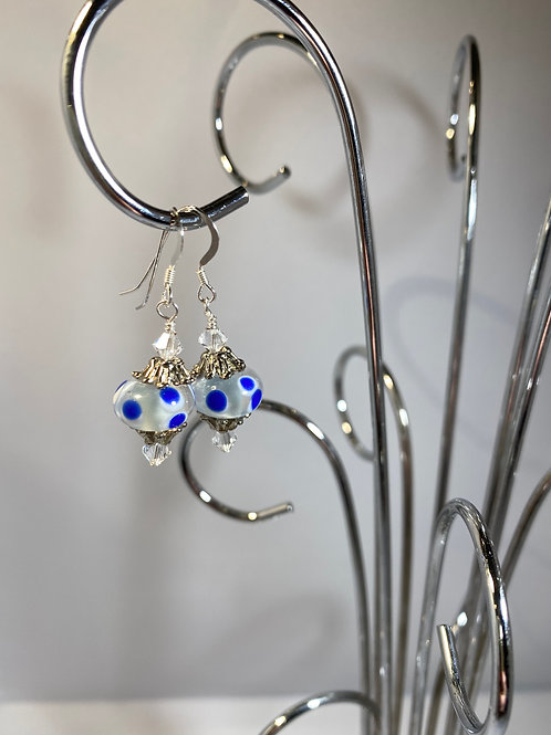 Lumps and Bumps Lampwork Earrings
