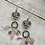 Thumbnail: Puffy Heart Dangly Antique Earrings