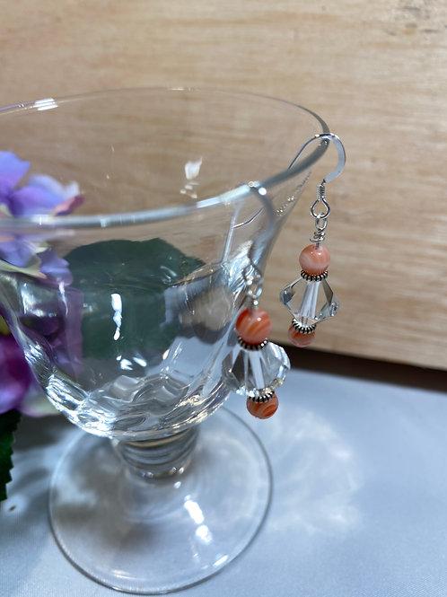 Creamsicle Crystal Earrings