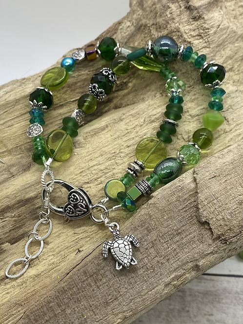 Green Sea Turtle Double Bracelet