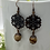 Thumbnail: Antique Copper Filigree with Jasper Earrings