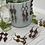 Thumbnail: Pretty Earthtones Czech Flower Dangly Earrings