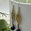 Thumbnail: Antique brass and sodalite Earrings