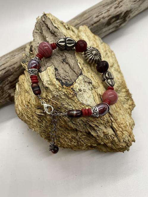 Vintage (Red) Beaded Bracelet