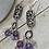 Thumbnail: Shades of Purple Dangly Earrings