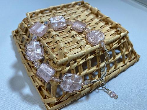 Pink Foil Bracelet