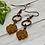 Thumbnail: Orange Czech Flower Earrings
