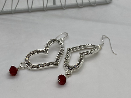 Love to Sparkle earrings (red)