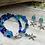 Thumbnail: Blue/Teal Sea Star Double Strand Bracelet
