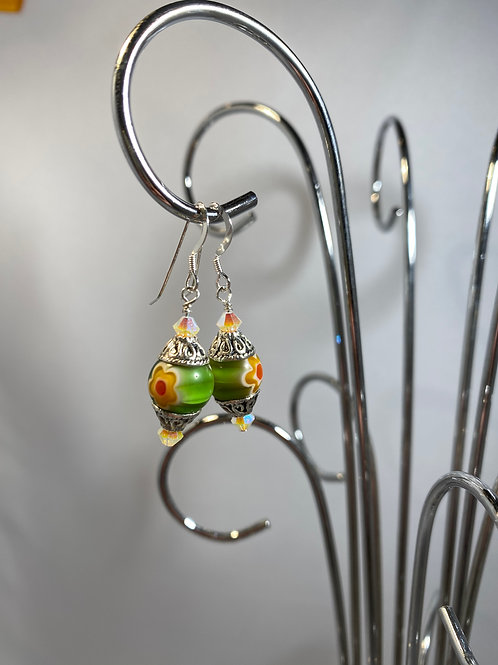 Glowing and Growing Green Earrings
