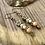 Thumbnail: Sweet and Dainty Czech Flower Earrings