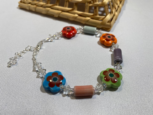 Colorful Flower Fantasy Bracelet