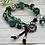 Thumbnail: Suede & Button Close Boho Bracelet-Green/Teal
