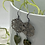 Thumbnail: Oxidized Silver with Rhyolite Hearts Earrings