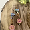 Thumbnail: Pink Irridescent Czech Flower Earrings