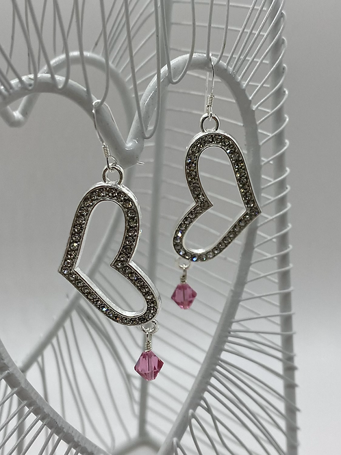 Love to Sparkle earrings (pink)