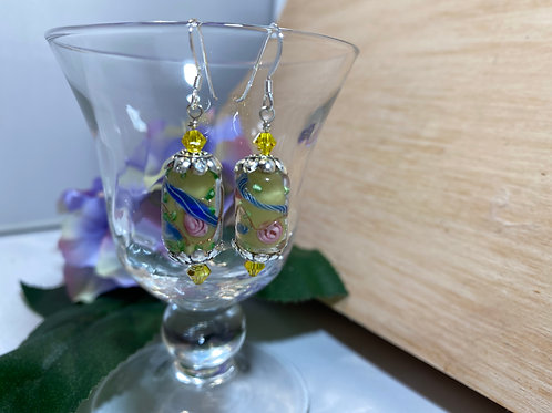 Lemon Lampwork Earrings